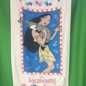 Vintage 90s Pocohontas Disney Beach towel